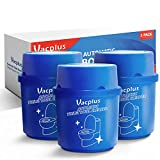 Vacplus Toilet Bowl Cleaner (3-BOTTLE PACK), Automatic Toilet Bowl Cleaner, Long-Lasting Toilet Bowl Cleaner Tablets in Bottle with Fresh Scent