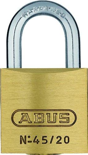 ABUS Vorhängeschloss 45/20 aus Messing - 2er Set - für Spinde, Werkzeugkisten, Koffer - 11819 - Level 2 - Messingfarben