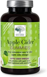 New Nordic Apple Cider Gummies | Vegan Chewable Wellness Supplement | No Vinegar Taste | 60 Count