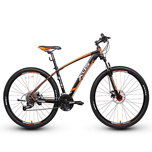 DJYD Erwachsene Mountain Bikes, 27,5-Zoll-Anti-Rutsch-Bikes, Alurahmen Hardtail Mountainbike mit Doppelscheibenbremse, 27-Gang-Fahrrad, Gelb, 17.5 FDWFN (Color : Yellow, Size : 16)