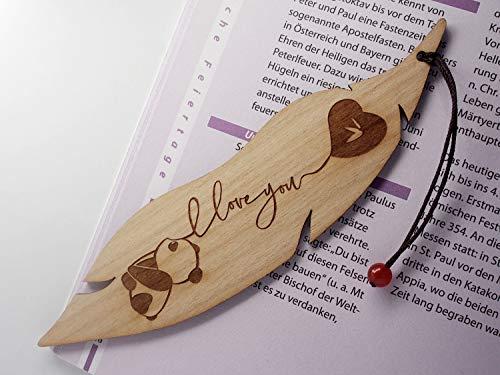 Personalisiertes Lesezeichen aus Holz, Pandabär, MinaturArt