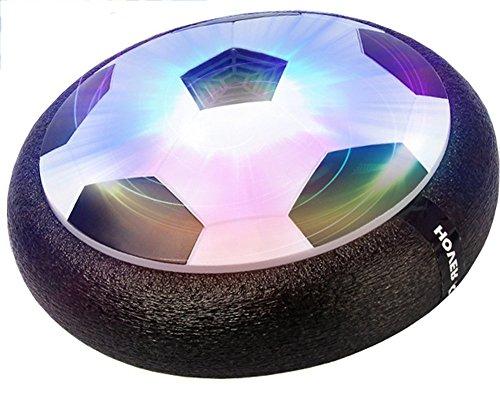 Brigamo 60719 - Hoverball schwebender Luftkissen Indoor Fußball mit LED Beleuchtung und Möbelschutz