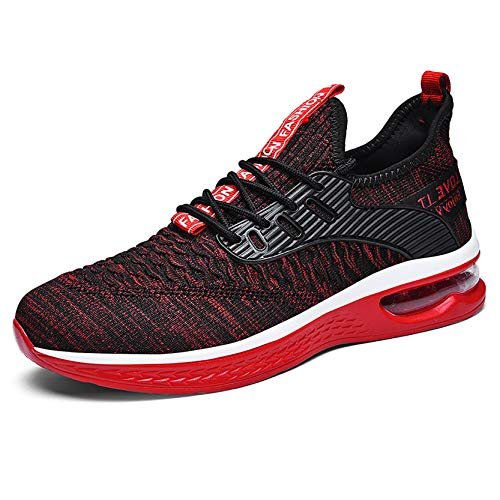 Joytoo Zapatillas de deporte para hombre, para correr, caminar, talla 6, 7, 8, 9, 10, color Rojo, talla 40 2/3 EU