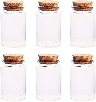 Anjing para Manualidades decoraci/ón Paquete de 40 Mini tarros de Cristal con tap/ón de Corcho 20 ml