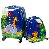 DREAMADE Kinderkoffer-Set Kiderkoffer mit Rucksack, Kindertrolley Kindergepäck, Handgepäck...