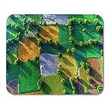 Not Applicable Mouse Pads Royalty High Stock Vista aérea de Rice Fields Alfombrilla de ratón para portátiles, Alfombrillas de Escritorio Material de Oficina
