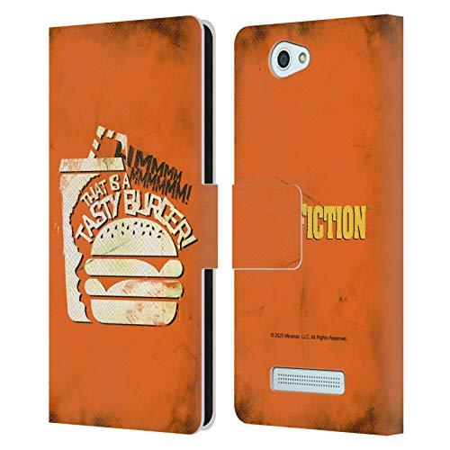 Head Case Designs Licenza Ufficiale Pulp Fiction Tasty Burger Arte Cover in Pelle a Portafoglio Compatibile con Wileyfox Spark/Plus