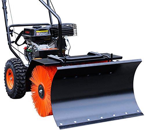 FUXTEC Schneeschieber Aufsatz KMS163 für Benzin Kehrmaschine Räumgerät Kehrbürste KM163