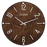 Citizen CC2021 Gallery Wall Clock, Walnut