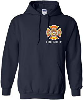 Safety Stripe Firefighter Hooded Sweatshirt