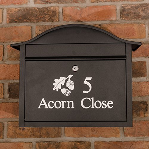 Signs & Numbers Personalised Letterbox Postbox Mailbox wall mounted, lockable, large capacity Dublin black