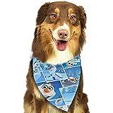 Pañuelo para Perro, Frozen Pet Dog Puppy Cat Bufanda Triangle Bibs Pañuelo Set