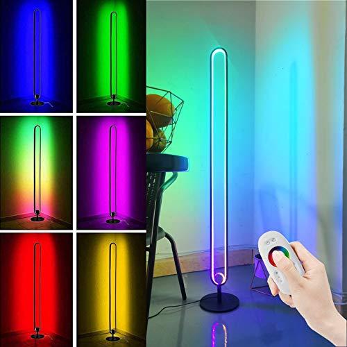 Ydshyth Moderne Minimalistische Led Stehlampe RGB Farbwechsel, Mit Fernbedienung, 20w Stehlampe, Dimmbare Eckleuchte Für Wohnzimmer, Schlafzimmer