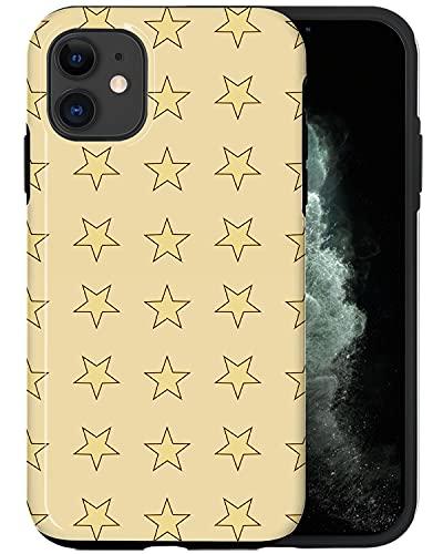 JUSPHY - Carcasa para iPhone 12, diseño de estrellas doradas sin costuras RED106, diseño de moda estético, accesorios para teléfono