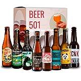 Pack de cervezas artesanales BEER 501 - Caja Cerveza artesana Española: La Virgen, Zeta, Esperanto, La Sagra, Panda Beer, Redneck. I Selección de cervezas españolas para regalar y disfrutar.