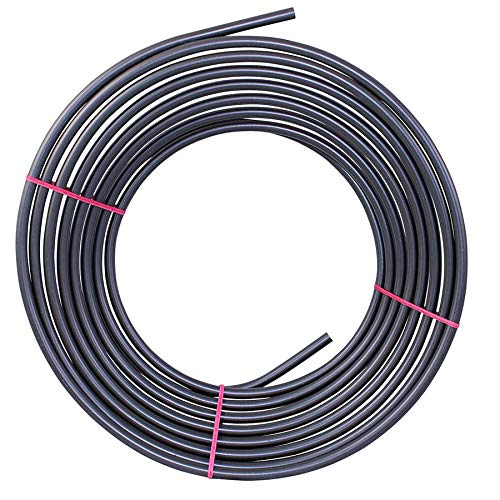 4LIFETIMELINES PVF-Coated Steel Brake, Fuel, Transmission Line Tubing Coil, 3/8 x 25 ft