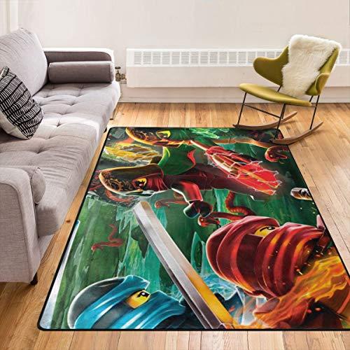 EnlaMorea Teppich mit Cartoon-Anime-Ninjago-Ninja-Bereich, rutschfeste Fußmatte für Wohnzimmer, Schlafzimmer und Kinder, 213,4 x 152,4 cm