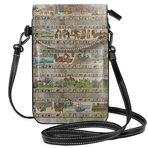 The Whole Gabeaux Tapestry Story Of Outlander Leichte Kleine Crossbody-Taschen Handytasche Geldbörse für Frauen Mädchen mit praktischem Tragen