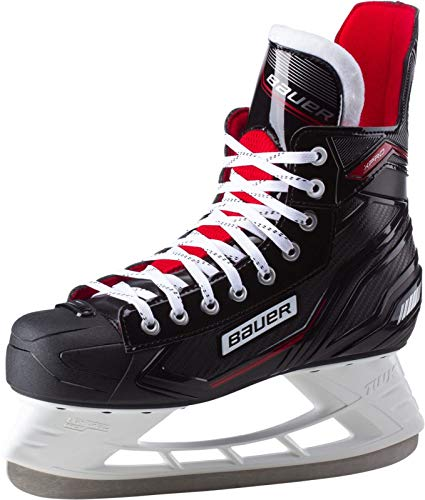 Bauer Herren Xpro Skate Sr. Feldhockeyschuhe, Schwarz (Schwarz-Weiss-Rot-SI 900), 41 EU