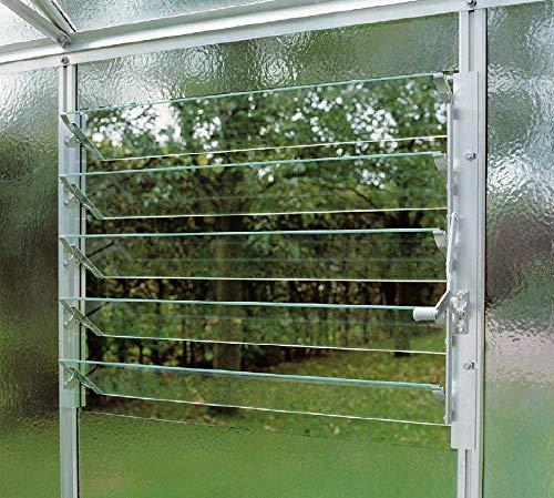 MacGreen® Lamellenfenster für Gewächshäuser (für Scheibenbreite bis 61 cm)