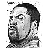 Wee Blue Coo Ice Cube Rapper Painting Art Print Poster Wall