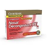 GoodSense Maximum Strength Nasal Decongestant PE, Phenylephrine HCl, 10 mg tablets. Nasal and Sinus Congestion, Sinus Pressure, 36 Count