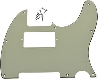 KAISH 8 Hole Tele Guitar Humbucker Pick Guard for USA/Mexican Fender Telecaster Aged White 3 Ply