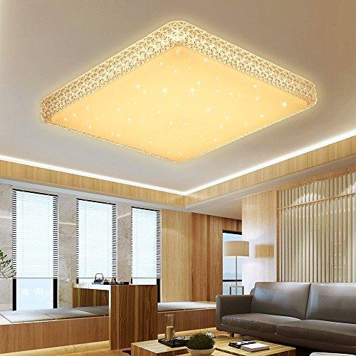VINGO 60W Deckenleuchte Starlight Effekt Kristall Warmweiß LED Korridor Eckig Deckenbeleuchtung...