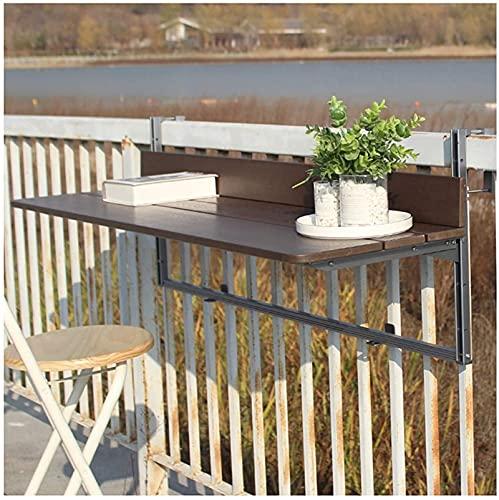 yxx Mesa Colgante Flotante marrón, Mesa Plegable Grande Mesa de Escritorio para niños Loft Counter Barandilla de Ocio Mesa de Ocio para pequeños Espacios de Oficina en casa Bar (Size : 100×37cm)