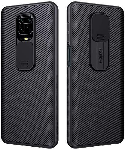 Funda para Xiaomi Redmi Note 9S/9 Pro/9 Pro MAX, Protección de Cámara Carcasa para Redmi Note 9S, Rosyheart Cubierta Deslizante para Cámara Delgado Ligera Rígida PC Anti-Golpes Protectora Caso, Negro