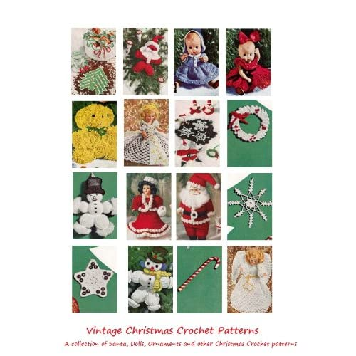 Amazoncom Christmas Crochet Patterns 25 Vintage Christmas