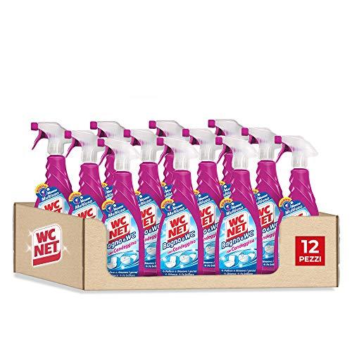 Wc Net Bagno e Wc con Candeggina, Detergente Spray per Sanitari e Superfici, Azione Igienizzante e Sbiancante, 600 ml x 12 Pezzi