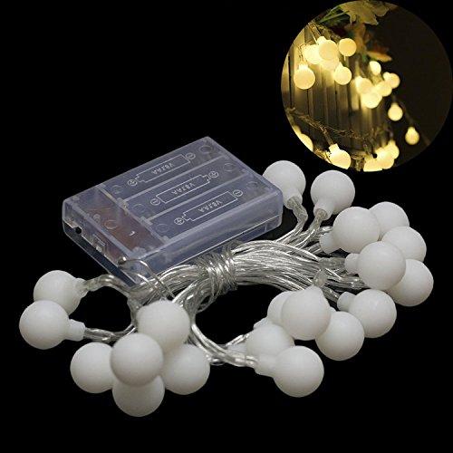 40 LEDs Guirlande lumineuse LED à Piles Petites Boules Blanc Chaud Décoration Romantique pour Fête Noël Mariage Anniversaire Soirée Party