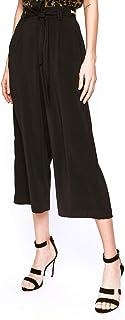 Pantalón Gaucho Mujer, Crop Pants Quasral PGP20148PA Negro W0148