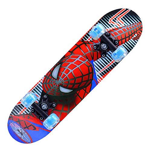Z1 Skateboards für Anfänger, 58,1 cm, Kunststoff, klassisches Mini-Skateboard, mit biegbarem Deck und glattem,...