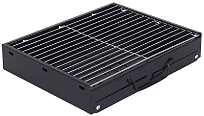 Vvciic BBQ Charcoal Grill, Portable Grill Barbecue Oven, Folding Grill Lightweight Barbecue Grill Tools Stainless Steel Tabletop Outdoor for Picnic Garden Terrace Camping