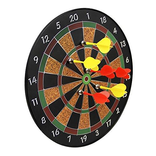ダーツボード 30cm ハード 家庭用タールボード ダーツ矢 セット 室内遊び 道具 安全 マグネット仕様 投げ矢 6本付き 子供でも使用可能 セーフティダーツボード オフィス パーティー バー 競技 ゲーム 壁掛けタイプ 設置簡単 投げ 組み合わせ グランボード6歳以上