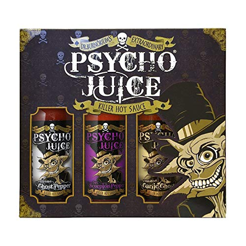 Psycho Juice Gift Set Ghost Pepper Collection Pack of 3 Hot Sauces :...