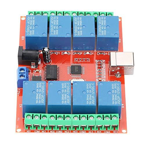 8-Kanal DC 12V Computer USB Control Switch Relay Modul USB Switch Controller mit importiertem Hochleistungs-USB Control Chip