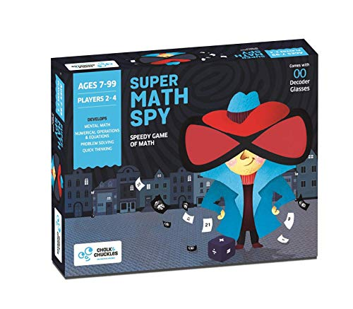 Chalk and Chuckles Super Math Spy - A Mental Math Educational Game for Kids at Home, Ages 8, 9, 10 Year Old and Up, STEM Toy, Easter Gift for Boys & Girls, Grade 2 & Up