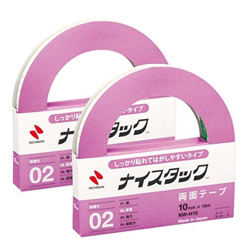 ニチバン 両面テープ ナイスタック しっかり貼れてはがしやすい 10mm NW-H10AZ2P