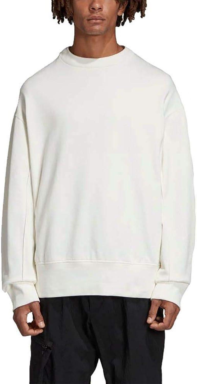 Adidas Y3 Yohji Yamamoto Men's DY7158 White Cotton Sweatshirt