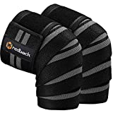 REDBACK Knee Wraps for Weightlifting,Powelifting, Fitness -Knee Straps (Grey)