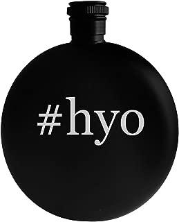 #hyo - 5oz Hashtag Round Alcohol Drinking Flask, Black