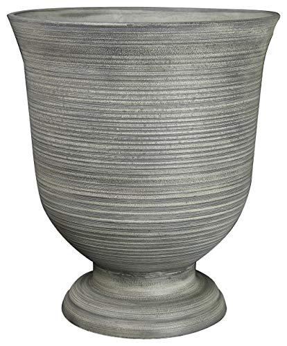 "Classic Home and Garden 39451D-518R 16"" Greenwich Urn Planter, Striated Granite"