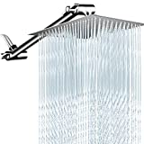 PinWin 10 Inches Rain Shower Head with 13 Inches Adjustment Extension Arm,Large Square High Pressure...