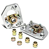 Replacement for Ford Mustang Pair Front Adjustable Camber Caster Plates Coilover Alignment Kit