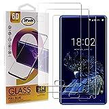 guran 3 pezzi pellicola protettiva in vetro temperato per doogee mix smartphone 9h durezza anti-impronte hd alta trasparenza pellicola