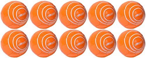 dobar Herren Trainingsbälle farbige Fussbälle aus Kunstleder, Teambedarf, Spielball 440 g, Orange, 5