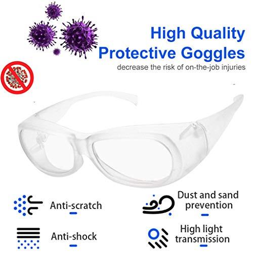 Rameng 2PC Anti UV Shortwave Light Eyes Protection Lunettes de sécurité Protection UV Anti-Buée pour l'agriculture l'industrie et Le Laboratoire Lunettes Hommes et Femmes